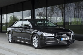 Chauffeurd limousine service with style:  Audi A8 L