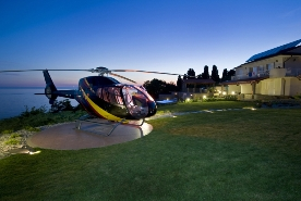 Enhancement of our chauffeured car services: Helicopter charter