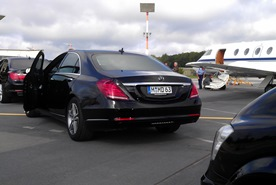 Your limousine with chauffeur awaits you at the private jet