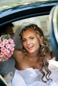 Limousine services and chauffeured car services: wedding car